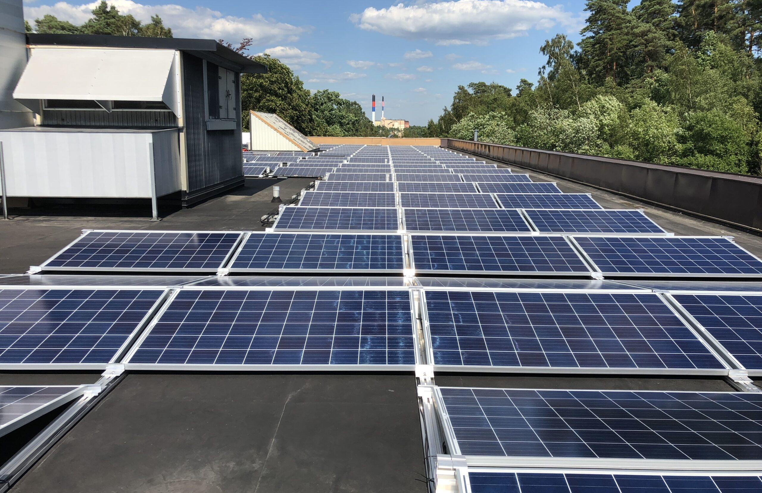 Solcellsanläggning på Hässleholms sjukhus