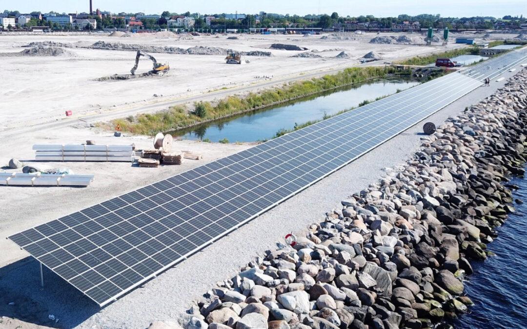 Solcellsanläggningen är igång i Trelleborgs Hamn